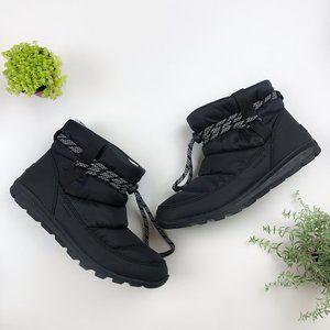 Sorel Whitney Black Waterproof Nylon Short Booties